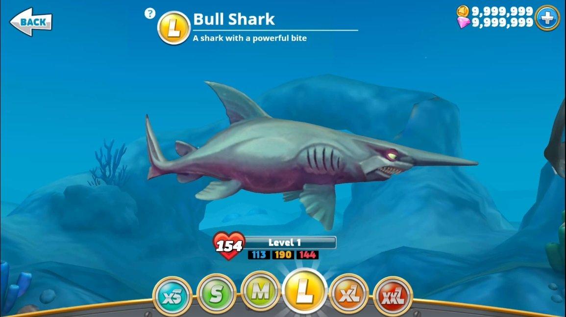 hungry shark world взлом на деньги и кристаллы
